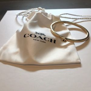 COACH Bangle/Bracelet. Gold. New with tags.